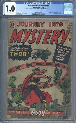 Journey Into Mystery #83 CGC 1.0 1st Appearance of Thor 1962