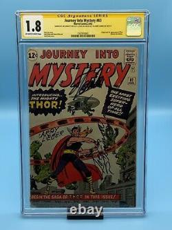 Journey Into Mystery #83 CGC 1.8 Signed Stan Lee, Larry Lieber, Joe Sinnott RARE