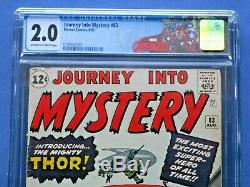 Journey Into Mystery #83 CGC 2.0 Origin & First Appearance of Thor
