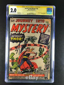 Journey Into Mystery 83 CGC 2.0 Signed by Stan Lee twice Origin 1st App Thor
