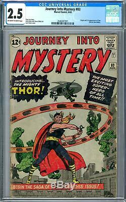 Journey Into Mystery #83 CGC 2.5 (OW-W) 1st Appearance of Thor