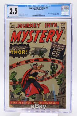 Journey Into Mystery #83 CGC 2.5 Origin & 1st Appearance Thor Blue Label