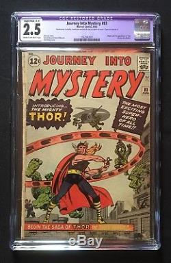Journey Into Mystery #83 CGC 2.5 (R) 1962 1st Thor! Avengers! Iron Man! Stan Lee