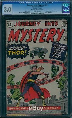 Journey Into Mystery 83 CGC 3.0 1st Thor