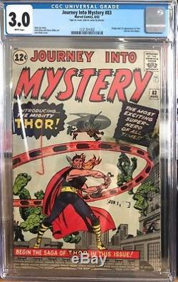 Journey Into Mystery 83 CGC 3.0 Marvel Origin & 1st first appearance of Thor
