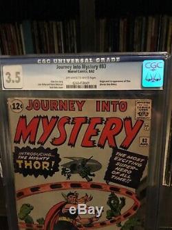 Journey Into Mystery 83 CGC 3.5