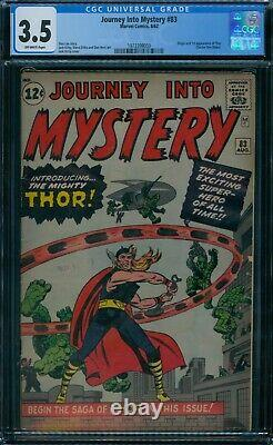 Journey Into Mystery 83 CGC 3.5 1st Thor