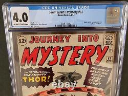 Journey Into Mystery #83 CGC 4.0 1962 Off-White to White Pages 2050170002 Thor