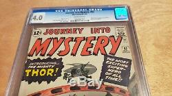 Journey Into Mystery #83 CGC 4.0 First appearance Thor, presents better than 4.0