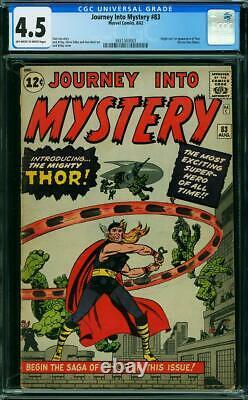 Journey Into Mystery 83 CGC 4.5 1st Thor owithw pages