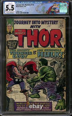Journey Into Mystery #83 CGC 5.5 (OW-W) Classic Thor vs Hulk