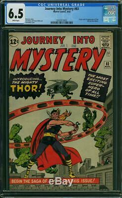 Journey Into Mystery 83 CGC 6.5 1st Thor WHITE Pages