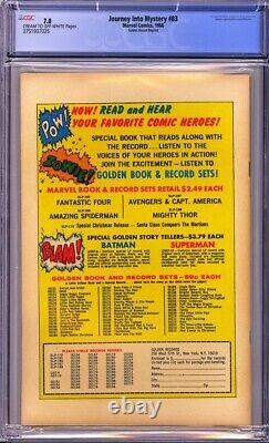 Journey Into Mystery #83 CGC 7.0 Golden Record ReprintKEY ISSUE! L@@K