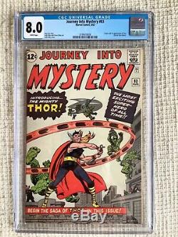 Journey Into Mystery #83 CGC 8.0 Origin & 1st Appearance of Thor White Pgs