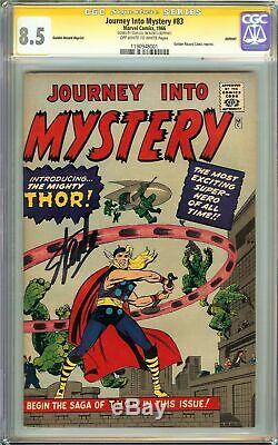 Journey Into Mystery #83 CGC 8.5 SS STAN LEE Origin 1st Appearance of THOR GRR