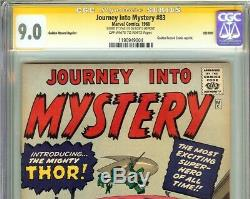 Journey Into Mystery #83 CGC 9.0 SS STAN LEE Origin 1st Appearance of THOR GRR