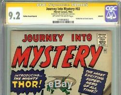 Journey Into Mystery #83 CGC 9.2 SS STAN LEE Origin 1st Appearance of THOR GRR