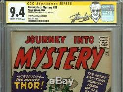 Journey Into Mystery #83 CGC 9.4 1966 1st Thor! Stan Lee Signature signed 113 cm