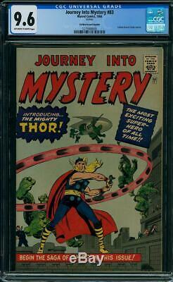 Journey Into Mystery #83 CGC 9.6 1966 1st Thor! GRR Avengers! K4 125 cm