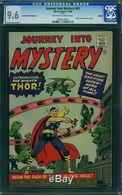 Journey Into Mystery #83 CGC 9.6 NM+ 1966 1st Thor! Avengers! E8 253 cm