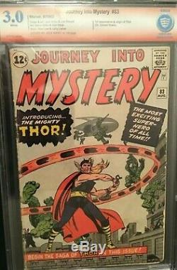 Journey Into Mystery #83 Cbcs 3.0 Verified Jack Kirby Signature