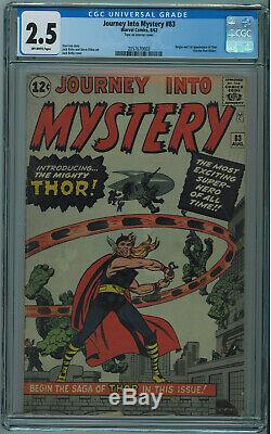 Journey Into Mystery #83 Cgc 2.5 1st Thor Off-white Pages 1962