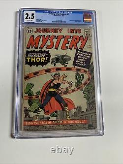 Journey Into Mystery 83 Cgc 2.5 Off White Pages Marvel Silver Age 1st App Thor