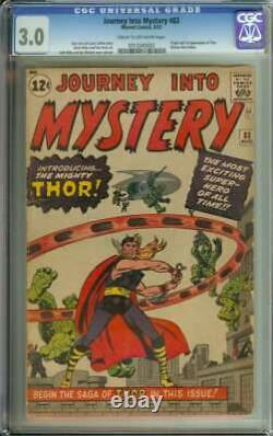 Journey Into Mystery #83 Cgc 3.0 Cr/ow Pages // Origin + 1st App Of Thor 1962