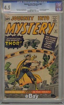 Journey Into Mystery #83 Cgc 4.5 Origin 1st App Of Thor