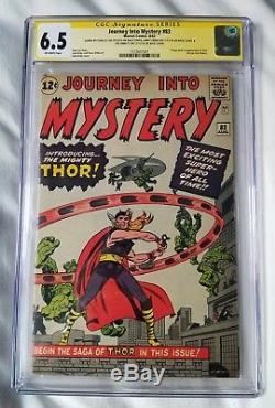 Journey Into Mystery 83 Cgc 6.5 3x Ss Lee Leiber Sinnott 1st App Thor L@@k @ It