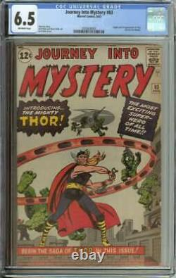 Journey Into Mystery #83 Cgc 6.5 Ow Pages // Origin/1st Appearance Of Thor