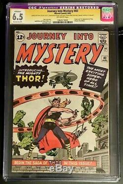 Journey Into Mystery #83 Cgc 6.5 Ss Stan Lee Signature Series Signed First Thor