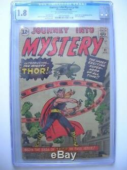 Journey Into Mystery #83, Cgc Graded 1.8, Very Nice
