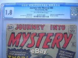 Journey Into Mystery #83, Cgc Graded 1.8, Very Nice