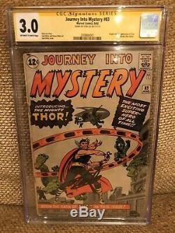 Journey Into Mystery #83 GD/VG CGC 3.0 SS STAN LEE