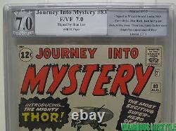 Journey Into Mystery #83, Marvel, PGX 7.0 Stan Lee signed, Thor 1st Appearance