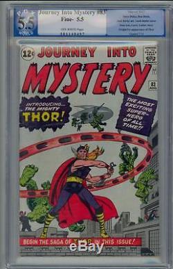 Journey Into Mystery #83 PGX 5.5 1962 1st Thor! Avengers! Iron Man! CGC D11 1 cm