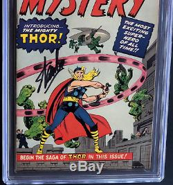 Journey Into Mystery #83 Signed Stan Lee Cgc Ss 9.0 Golden Record Reprint