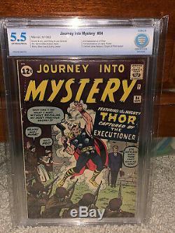 Journey Into Mystery #84 CBCS 5.5 Thor! 1st Jane Foster! Free CGC mylar! Cm