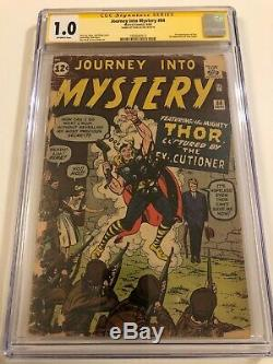 Journey Into Mystery #84 CGC 1.0 SS Signed by STAN LEE 1962