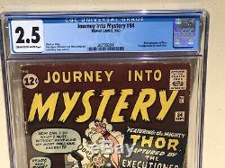Journey Into Mystery 84 CGC 2.5 (1st App. Jane Foster 2nd App Thor) 2027292001