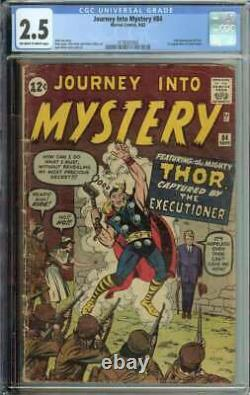 Journey Into Mystery #84 CGC 2.5 1st App Jane Foster 2nd Thor