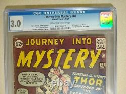 Journey Into Mystery #84 CGC 3.0 1st Appearance Jane Foster 2nd Thor 1962
