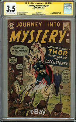 Journey Into Mystery #84 CGC 3.5 SS STAN LEE THOR 1st app of JANE FOSTER Marvel