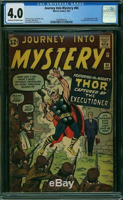Journey Into Mystery #84 CGC 4.0 1962 2nd Thor! 1st Jane Foster! H7 314 cm clean