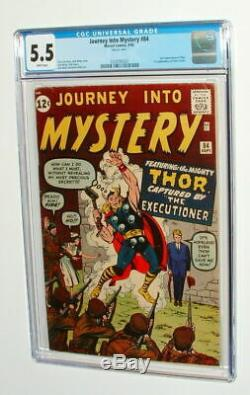 Journey Into Mystery #84 CGC 5.5 1962 2nd Thor! 1st Jane Foster! WHITE L4 320 cm