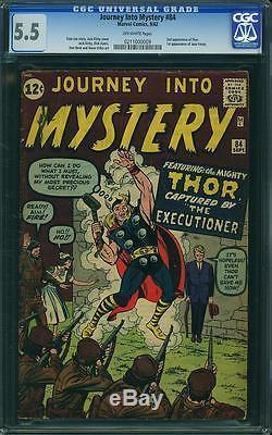 Journey Into Mystery #84 CGC 5.5 1962 2nd Thor! Avengers! C9 219 1 cm bo