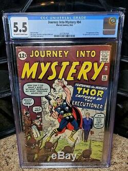 Journey Into Mystery #84 CGC 5.5 2nd Thor! 1st Jane Foster! Marvel Comics