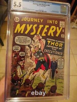 Journey Into Mystery #84 CGC 5.5 OWithW 2nd Appearance of Thor + 1st Jane Foster