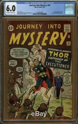 Journey Into Mystery #84 CGC 6.0 2nd Appearance Thor 1st Jane Foster